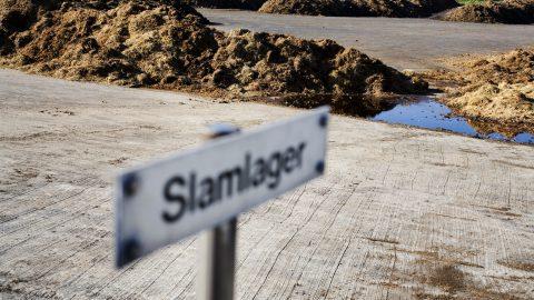 Bild på slamlager, Sjölunda Avloppsreningsverk