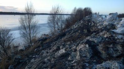Snow dumping Snow dumping site in Kokkola on the shore by the Gulf of Bothnia Kokkola